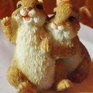 Vintage rabbits figurines