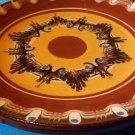 Ceramic brown pattern plate - 1980