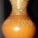 Hand-made Brown flower vase