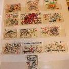 Czechoslovakia stamps from 1972-1976