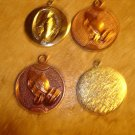 Lot of 4 all metal religion pendants