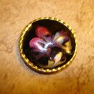 Beautiful art nouveau all metal button with gold trim.