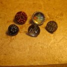 Lot of 5 antique picture buttons 3.