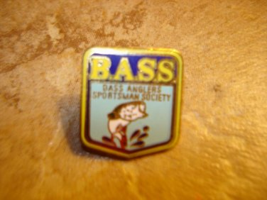 Bass Anglers Sportsman Sociaty all metal pin