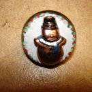 Cute Christmas  button with snowman.
