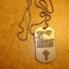 Metal religious pendant Kyron's Heroes Joshua 1:9