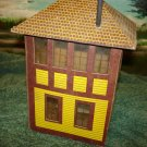O scale Vintage paper Centerville lighted RR switch tower.