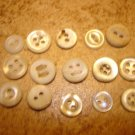 Lot of 15 small mother of pearl buttons
