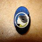 Atalanta 1907 all metal soccer pin badge.