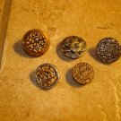 Lot of 5 antique metal buttons 5.