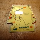 World cup soccer France 1998 jersey pin badge.