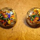 Lot of 2 plastic buttons with colorful beatles.