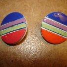 Set of 2 art deco plastic buttons.