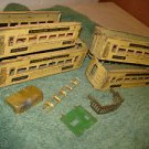 Pre WWII O scale American flyer 3171 x 3, 3172 car set, parts or restoration.