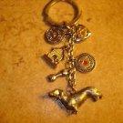 "Silver metal key chain ""I love my dog""."