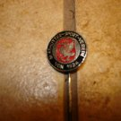 Vintage Glashutter sport Verein 1924 all metal soccer stick pin badge.