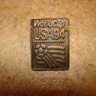 Rare World cup soccer USA 1994 pin badge by Peter David Inc.1991.