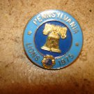 Pensylvania Lions 1975 Lions club pin all metal.