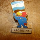 World cup soccer France 1998 Argentina pin badge.