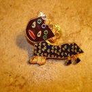 Funny dog all metal brooch pin badge.