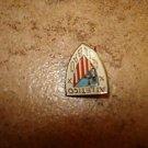 Vintage Atletico Bilbao all metal brooche soccer pin badge.