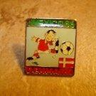Mexico Denmark 1986 soccer all metal pin back pin.