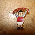 Burnley F.C. all metal brooch football soccer pin badge.