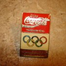 Cocal Cola sponser of 1988 Olympics games pin badge.