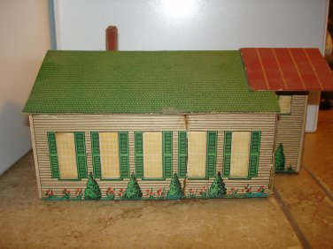 O scale kit built Lionelville Laundry with built in light
