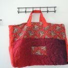 red paisley quilted tote bag ships free in continental US