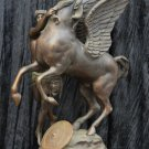 Antique Bronze Sculptor 1880s Greek Mythology ''Perseus & Shield ~ Medusa ~ Pegasus''