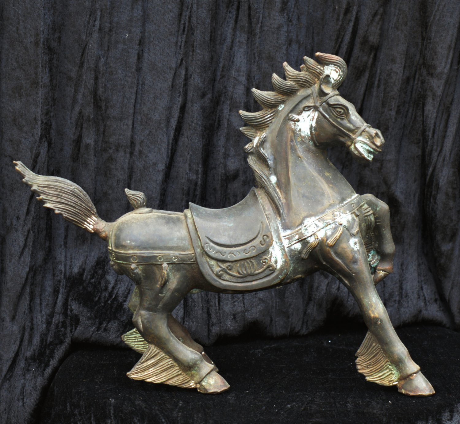 Antique Bronze Sculptor 1950s ''The Heavenly Horse'' Beautiful Patina