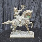 Bronze Sculptor 1950s ''The Falconer & Falcon'' Stunning Patina  Good Shape