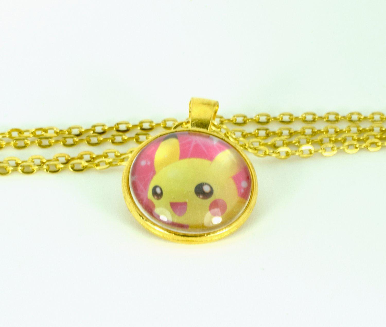 Handmade Pikachu TCG Necklace w/ Chain 24 inches long, Tray Pendant, Kawaii Japan Fashion