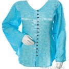 ROMEO & JULIET Satin PEASANT GYPSY TOP