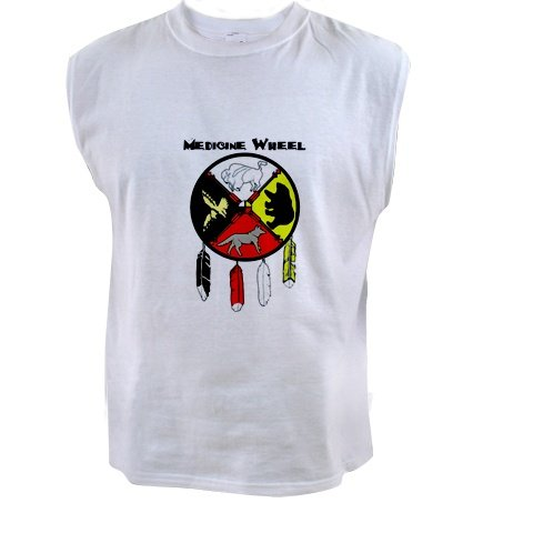 Black Foot Crow Medicine Wheel Sleeveless T-shirt