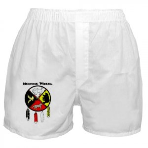 Black Foot Crow Medicine Wheel Boxers