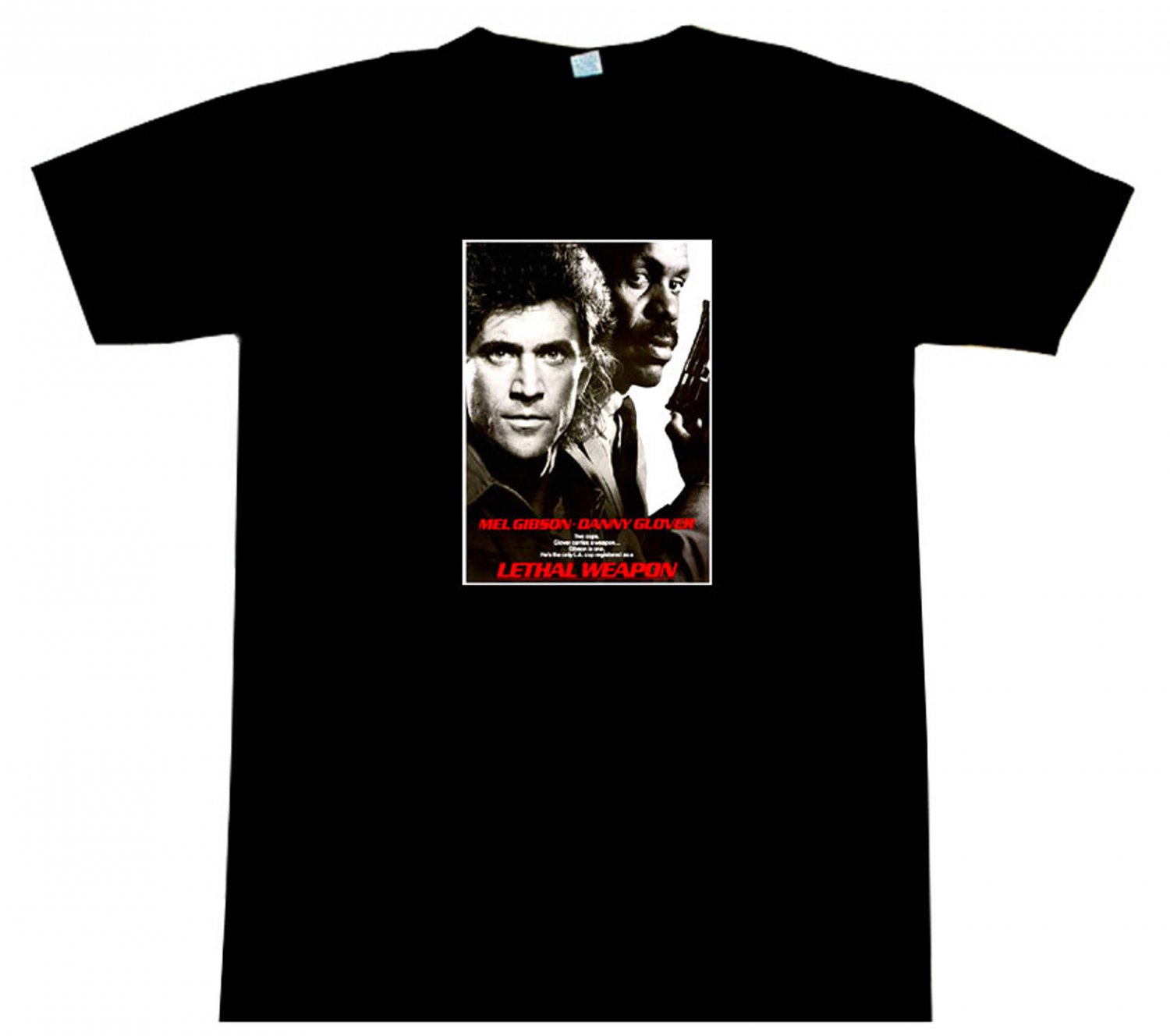 Lethal Weapon Mel Gibson Movie Poster T-Shirt BEAUTIFUL