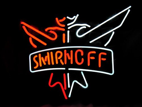"New Smirnoff Neon Light Sign 16""x 13"" Vodka Advertising [High Quality]"