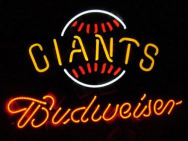 "New Budweiser New York Giants Neon Light Sign 16""x 13"" [High Quality]"
