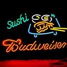 "Brand New BUDWEISER Sushi Bar Neon Light Sign 16""x 13"" [High Quality]"