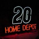 "New Nascar 20 Car HOME DEPOT Neon Light Sign 16""x 14"" [High Quality]"