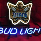 "Brand New Bud Light Beer - Gold Coast Titans Neon Light Sign 14""x8"" - Handmade"