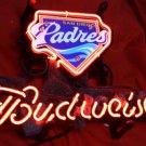 "Brand New BUDWEISER San Diego Padres Baseball Neon Light Sign 14""x 8"" [High Quality]"
