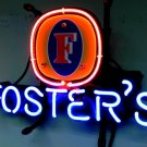 "Brand New FOSTER'S Beer Bar Neon Pub Light Sign 14""x 8"" [High Quality]"