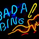"Brand New Bada Bing Lady enjoy Beer Bar Neon Light Sign 16""x 12"" [High Quality]"