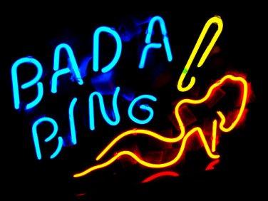 "Brand New Bada Bing Lady enjoy Beer Bar Neon Light Sign 16""x 12"" [High Quality]"