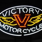 "Brand New Victory Motorcycle Beer Bar Pub Neon Light Sign 16""x 12""[High Quality]"