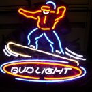 "Brand New BUD LIGHT Skateboard Beer Bar Neon Light Sign 16""x 14"" [High Quality]"