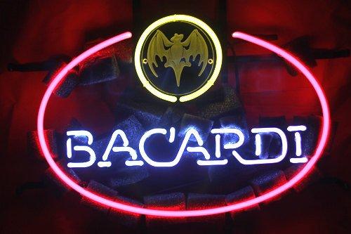 "Brand New BACARDI White Rum Beer Bar Pub Neon Light Sign 16""x14"" [High Quality]"